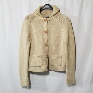 Roots NWOT wool blend knit cardigan, wood buttons